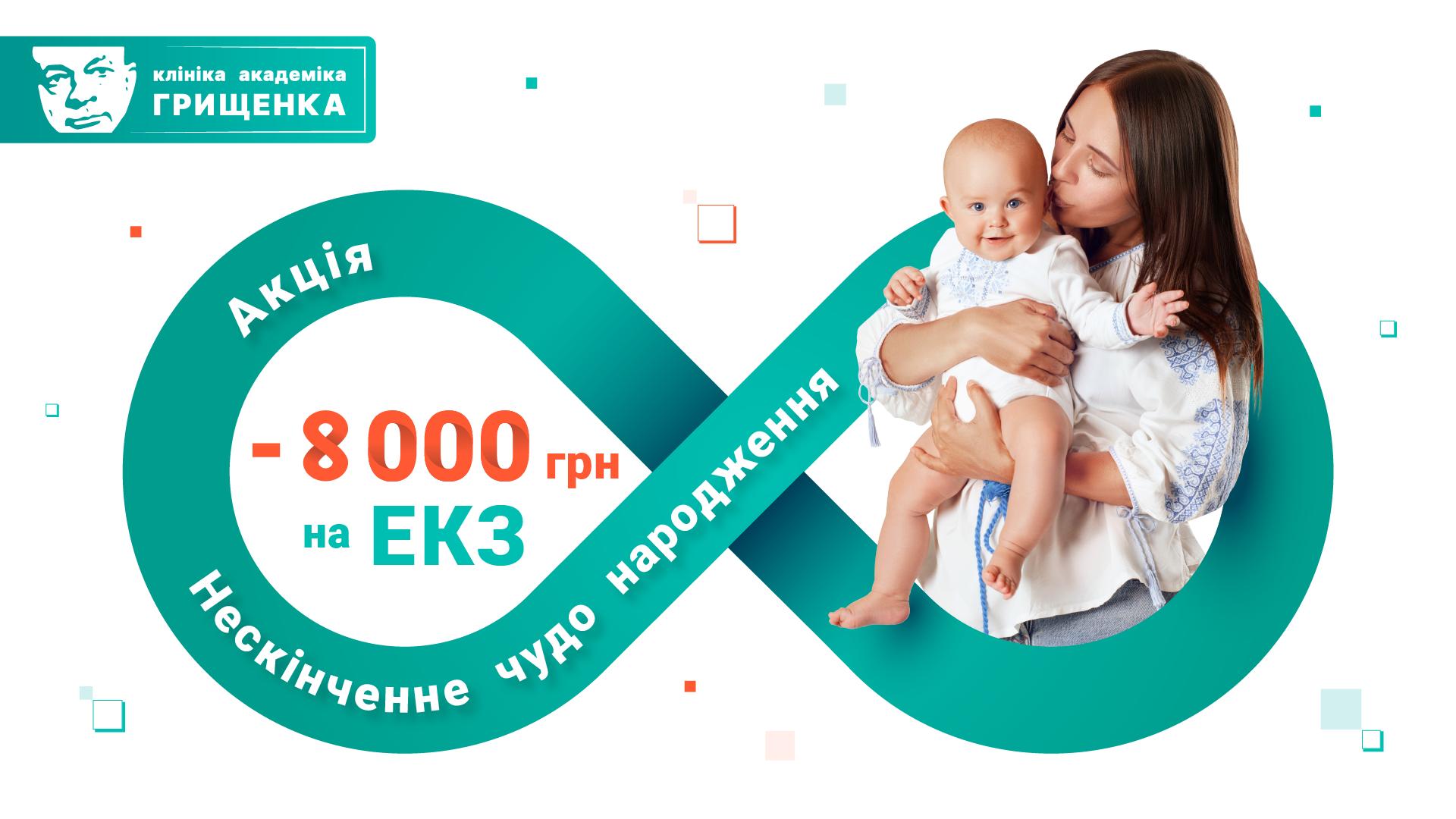 акція ЕКЗ Клініка акдеміка Грищенка